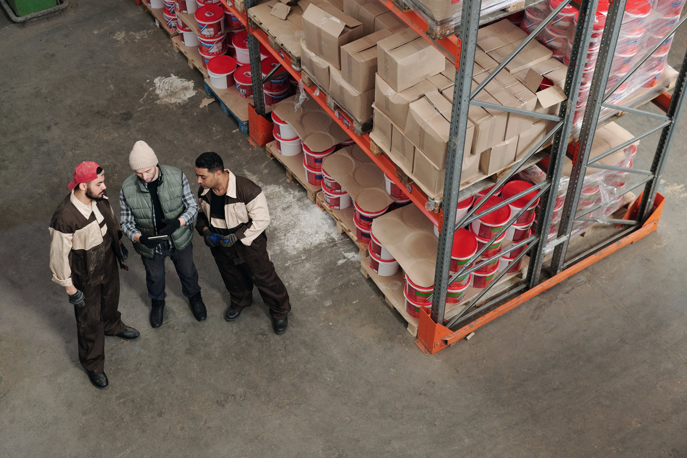 Workers inside a 3PL warehouse